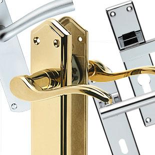 Door handles choose from a massive uk range at for Interior door handles with backplates