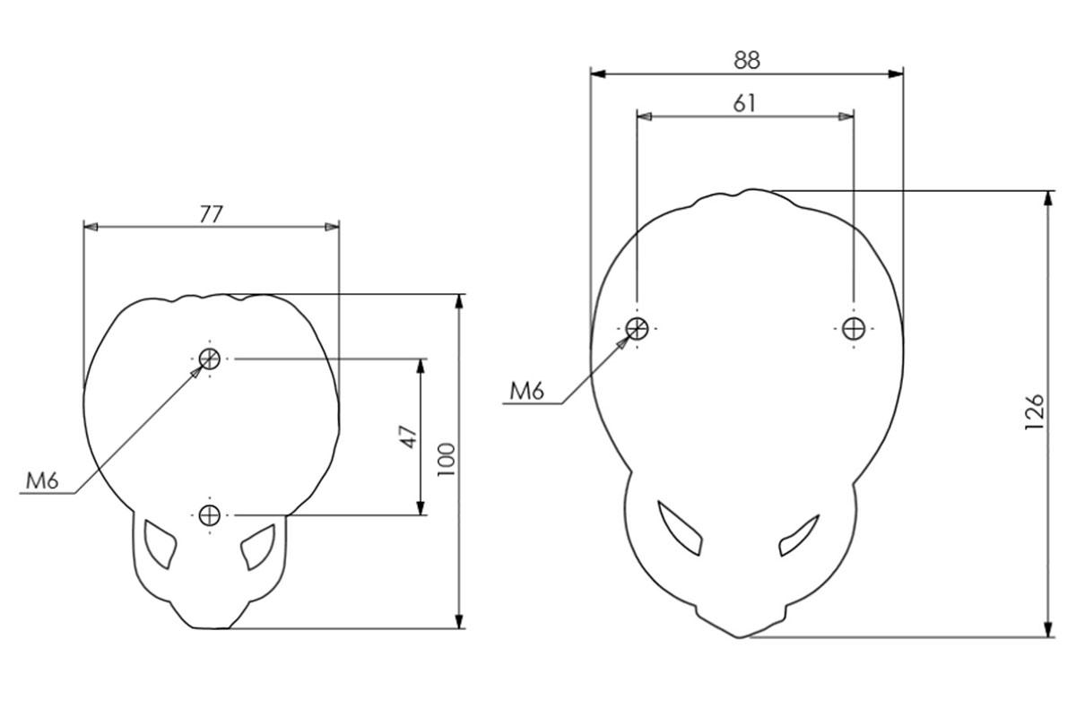 Diagram Image for DK13 Lions Head Door Knocker