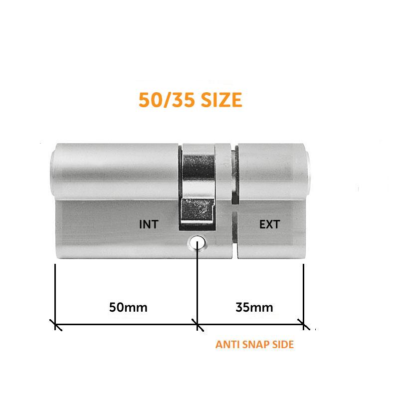 Diagram Image for DL37 - 3 Star Anti Snap Lock Euro Cylinder 50/35