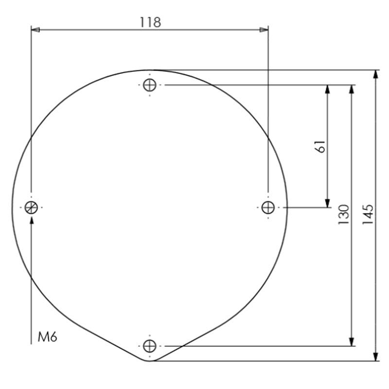 Diagram Image for DK14 Round Lions Head Door Knocker