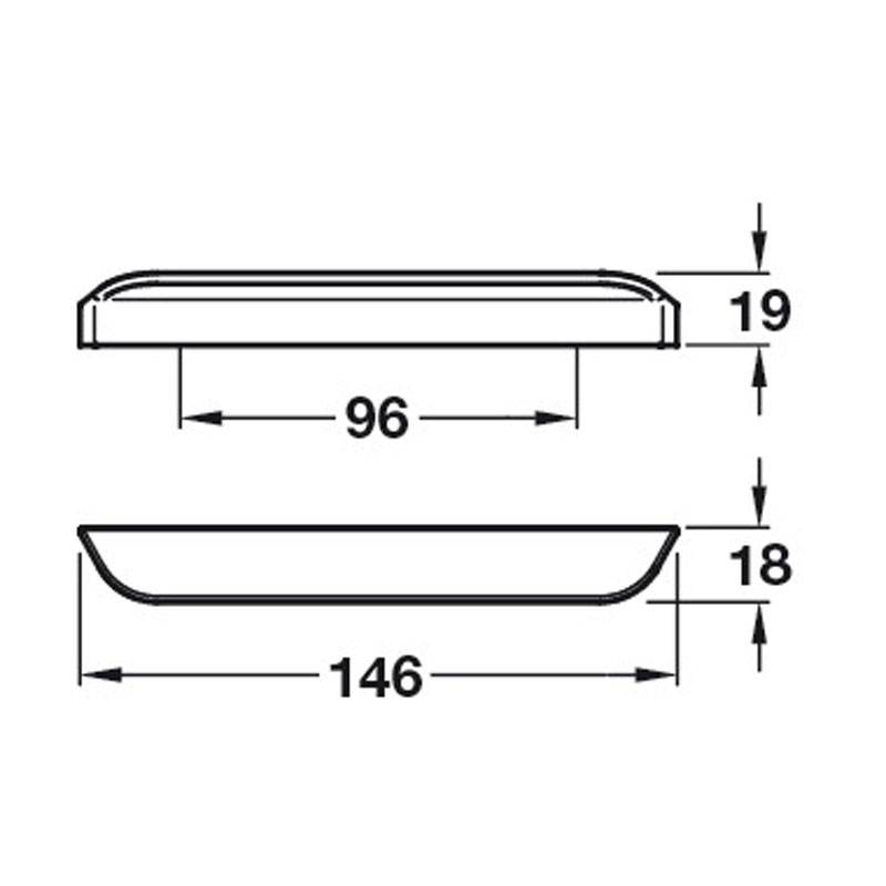 Diagram Image for CH407Modern PinchPull Handle