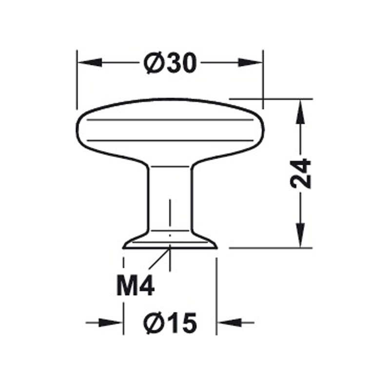Diagram Image for CH416Round Cupboard Knob