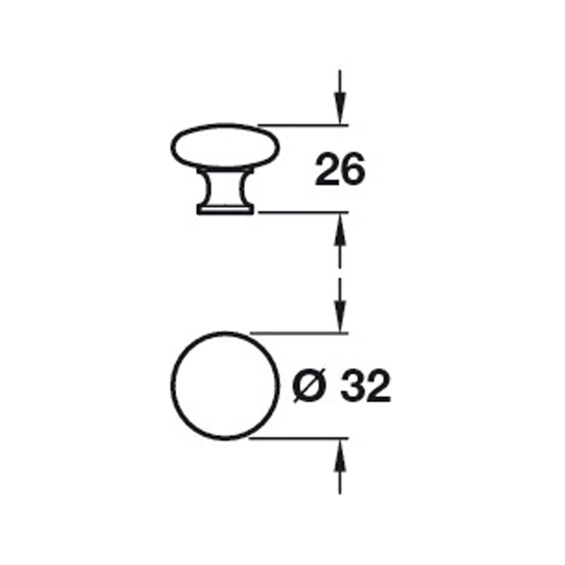 Diagram Image for CH41732mm Cupboard Knob