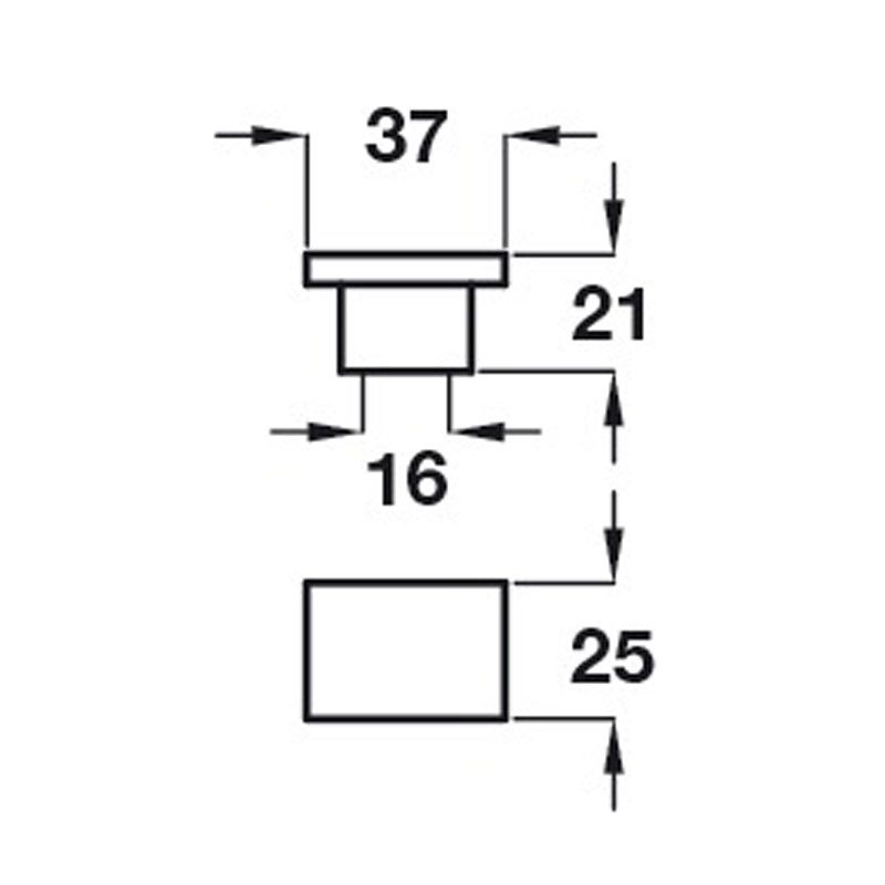 Diagram Image for CH421ModernCupboard Knob