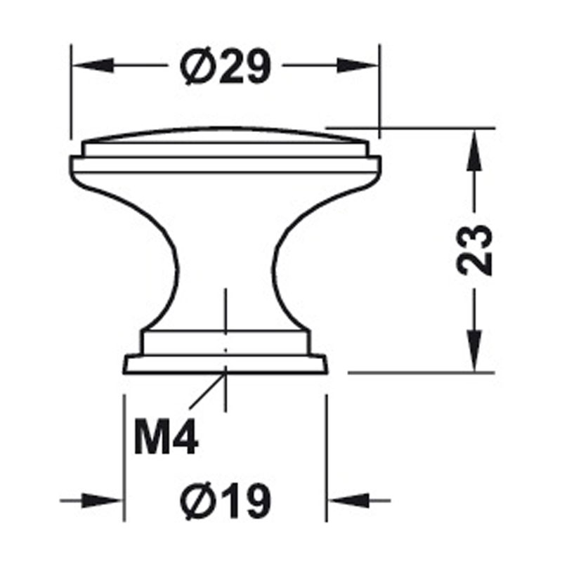 Diagram Image for CH424Classic Cupboard Knob