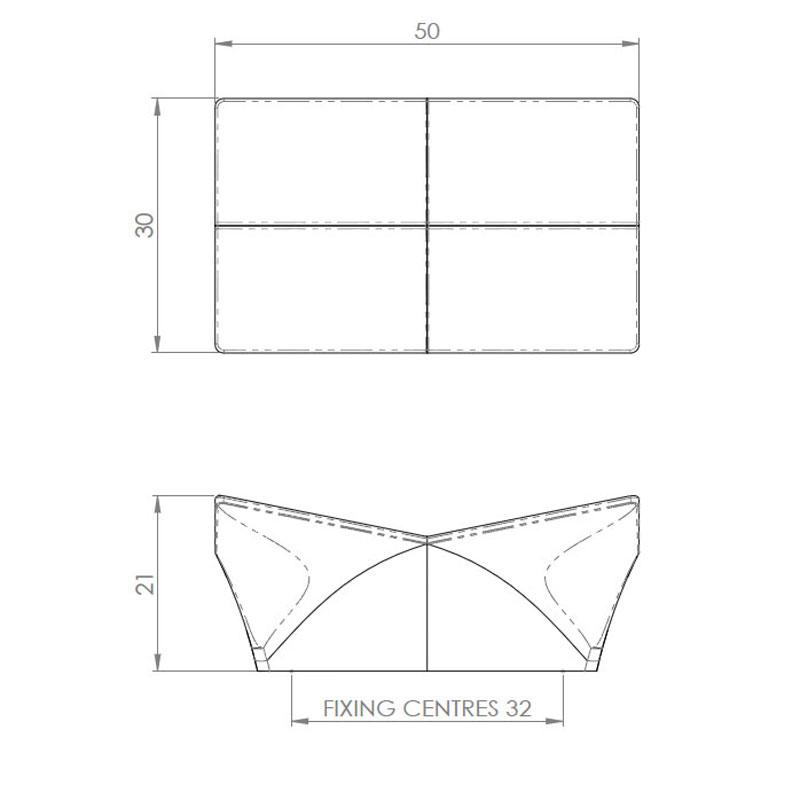 Diagram Image for CH428 Carvetti Cupboard Knob