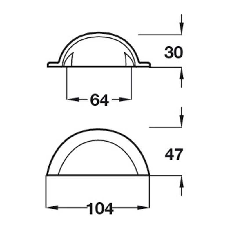 Diagram Image for CH431 Smooth Iron Cup Handle