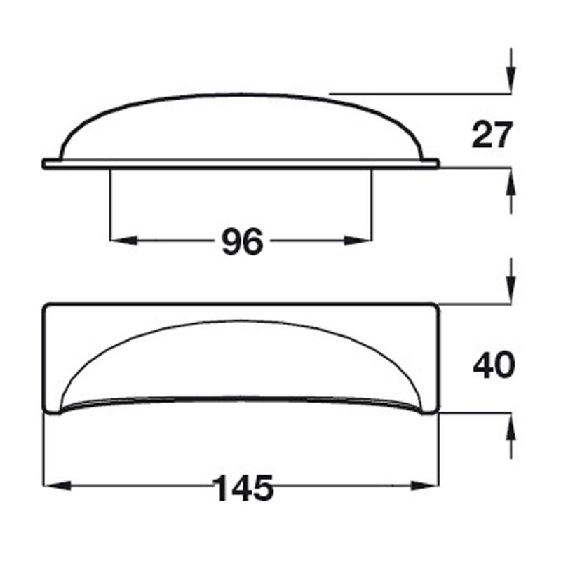 Diagram Image for CH433Cast IronCup Handle