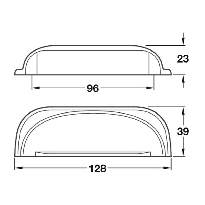Diagram Image for CH43496mm Cup Handle