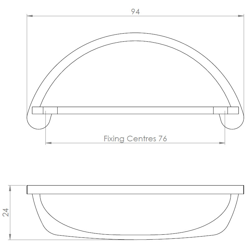 Diagram Image for CH437 Cottage Cup Handle
