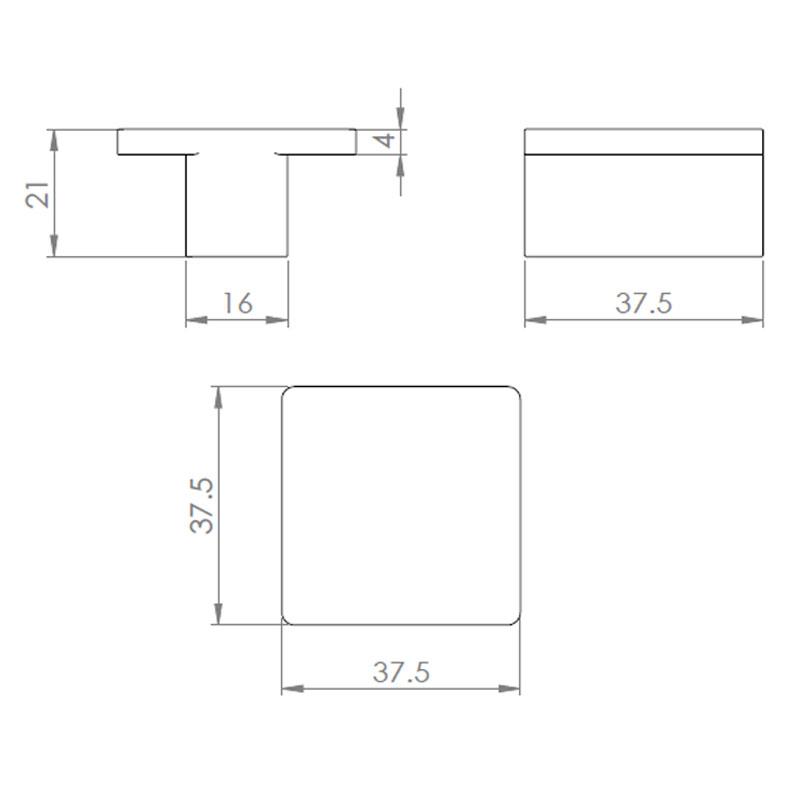 Diagram Image for CH71 Marin Cupboard Knob