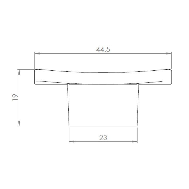 Diagram Image for CH72 Novus Cupboard Knob