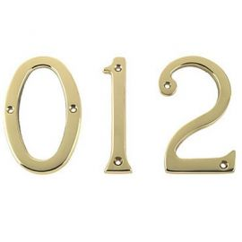 3 Inch Door Number Brass Polished