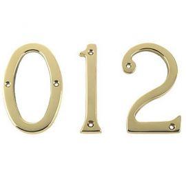 Brass door number 0