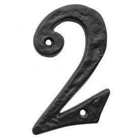 ntique Black Door Numbers No2