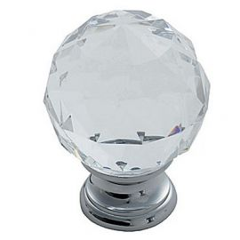 Ch142 Glass Cabinet Knobs Clear Translucent Brass