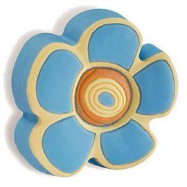 CH176 BLUE Flower Cabinet Handle