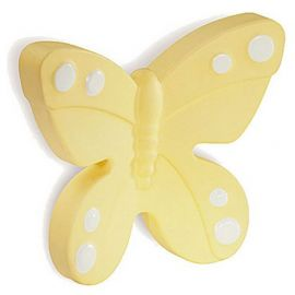 CH179 YELLOW Butterfly Kids Cabinet Knob
