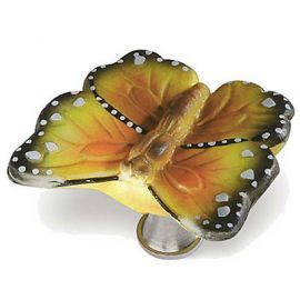 CH180 YELLOW Butterfly Drawer Handle