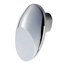 Ch68 Crescent Cupboard Knobs Chrome Polished