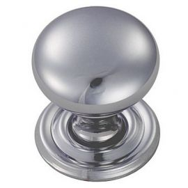 Ch97 Round Cupboard Knobs Chrome Polished Size A