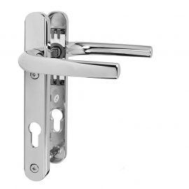 D87 - 92pz uPVC Door Handle 122mm Centres, Polished Chrome