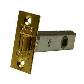 Tubular Door Latch - Brass