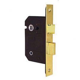 "Bathroom Door Lock Brass Polished 63mm (2.5"")"