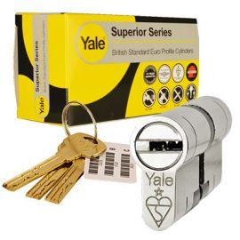 35/35 Yale Superior Series Euro Cylinder - Chrome.