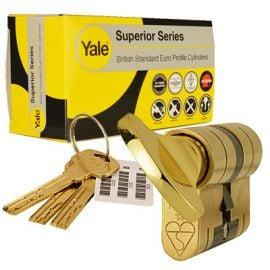 Yale Superior Euro Thumbturn T35 55 Brass Polished