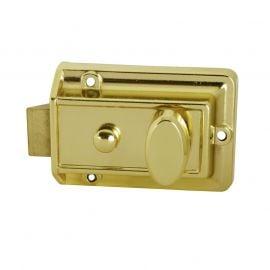 DL18 Traditional Rim Nightlatch Etched Brass 60mm