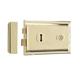 Polished Brass Rim Lock DL21