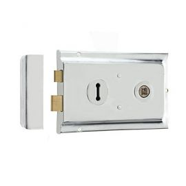 Brushed Steel Rim Lock DL21