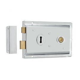Chrome Satin Rim Lock DL21