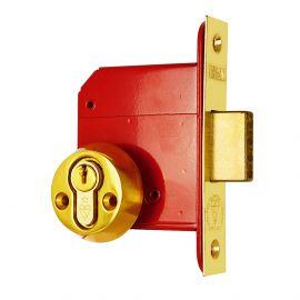 DL22 Euro Deadlock Polished Brass