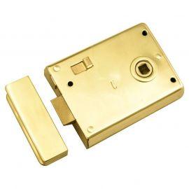 DL28 Rim Latch Polished Brass