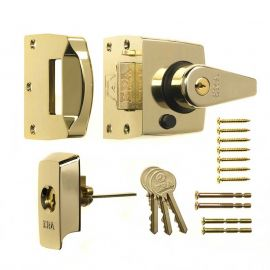 DL32 BS Nightlatch Brass Polished 40mm