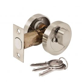 DL36 Key Locking Privacy Thumbturn Assembly, Satin Nickel