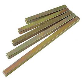 steel spindles - 8mm square.