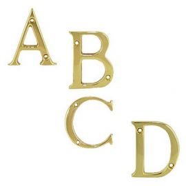 Door Letters Brass Polished