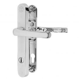 Mila Prosecure Security chrome upvc door handles - 92PZ - 211mm