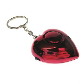 Heart Personal Alarm in red