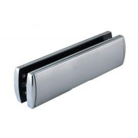 12 inch uPVC Door Letterplate, satin chrome finish