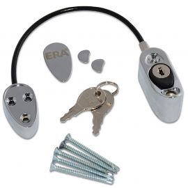 Chrome Cable Window Restrictor set