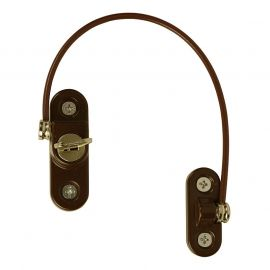 R15 Key Locking Cable Window Restrictor, Brown