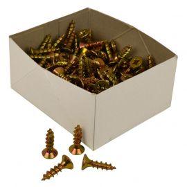 Zinc & Yellow Woodscrews Box Open