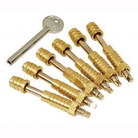 SW17 Sash Window Screw Locks, Brass