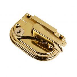 SW18 Traditional Sash Window Lock Brass