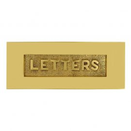 Victorian Embossed Letter Plate Brass 254 x 101