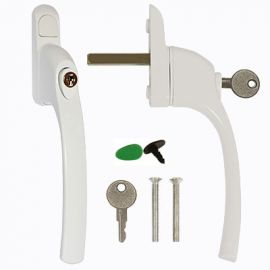 W91 White Espag Window Handle